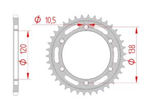 Kit chaine ACIER HONDA CB 300 F 2015-2016