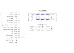 Kit chaine ALU HONDA CR 80 R P.R 87-95