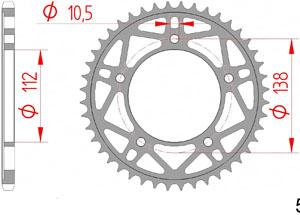 Kit chaine ACIER YAM YZF-R1/ M # 520 RACING 15-16
