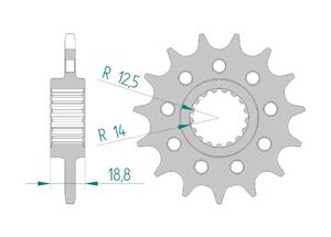 Kit chaine ACIER RACE APR RSV4 1000 APRC R 2010-2014