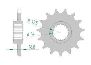 Kit chaine ALU APRILIA RSV4 1000 RR - RF 2015-2016