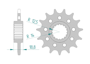 Kit chaine ALU APRILIA RSV4 1000 RR - RF 15-16 #520