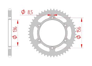 Kit chaine ACIER SHERCO SE 450 FI 2015-2016