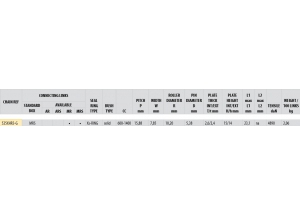 Kit chaine ACIER DUCATI 939 HYPERMOTARD 2016
