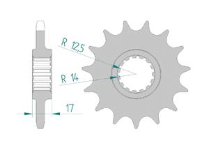 Kit chaine ACIER DUC 1199 PANIGALE R 13-15 FOR PCD4