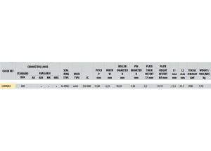 Kit chaine ACIER MV AGUSTA 750 F4 AGO 2004