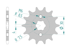 Kit chaine Acier HONDA MSX 125 2013-2015 Standard