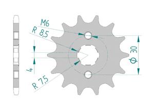 Kit chaine Acier HONDA MSX 125 2013-2015