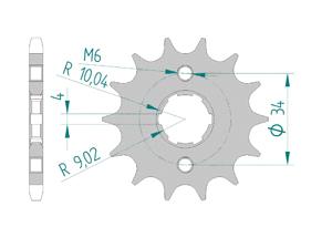 Kit chaine Acier HONDA CM 125 C 1983-1999 Renforcé Xs-ring