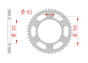 Kit chaine Acier HUSABERG FE 390 E 2010-2012 Standard Xs-ring