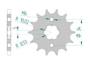 Kit chaine Acier HONDA CBF 150 2011-2012 Renforcé Xs-ring