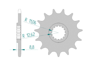 Kit chaine ALU HUSABERG TE 125 2011-2013 Standard Xs-ring