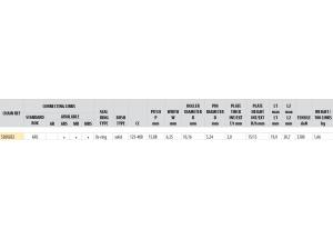 Kit chaine ALU HUSABERG FE 250 2011-2013 Standard Xs-ring
