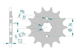 Kit chaine Acier HONDA CRF 230 F 2004-2012 Standard Xs-ring