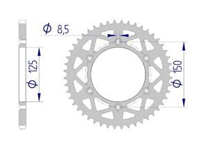 Kit chaine ALU HUSABERG 400 FE 2000-2002 Standard Xs-ring
