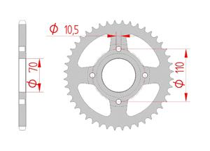 Kit chaine Acier HONDA RS 250 A Standard Xs-ring