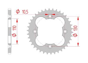 Kit chaine Acier HONDA TRX 250 R 1988-1989 Renforcé Xs-ring