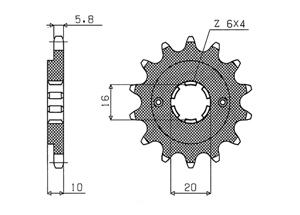 Kit CAGIVA Mito 125 Evo 2 (6-Sp.) 00-04
