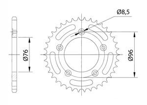 Kit CAGIVA N1/Planet 125 (6-Sp.) 96-02