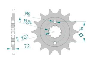 Kit chaine Acier HONDA CBR 300 R-RA 2015