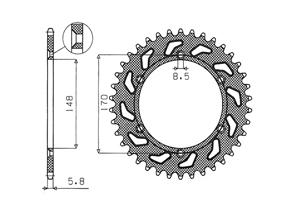 Kit CAGIVA T4 500 E /T4 500 R 87-