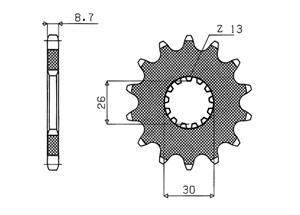 Kit TRIUMPH Daytona 955I [6 x Ø8.5] 02-