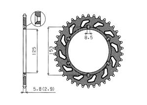 Kit HONDA CR125 R 00-01
