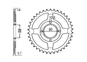 Kit HONDA CB250 Twofifty 92-98
