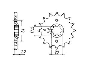 Kit HONDA XL250 RE-G 84-87
