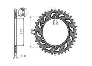 Kit HONDA NX250 (J,K,L,L2,P2) 88-93