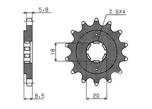 Kit HONDA CMX250/CB250 R Rebel 96-
