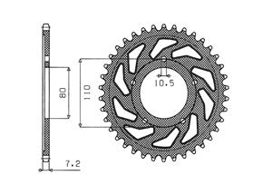 Kit HONDA XBR500 (44PS) 87-