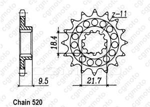 Pignon 250 Cr 86-87