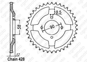 Couronne Nx 125 Italie 89-98