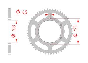 Kit chaine Acier DERBI 50 GPR 2010-2013 Standard