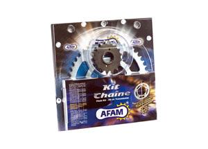 Kit chaine Acier DERBI 50 R CLASSIC 01 /RACER 02-03 Renforcé O-ring