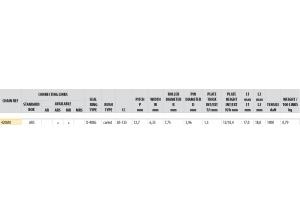 Kit chaine Acier DERBI SENDA 50 R DRD 02-05 Renforcé O-ring