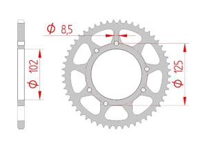 Kit chaine Acier DERBI 50 SENDA R DRD PRO 2006-2012 Standard