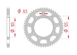 Kit chaine Acier DERBI 50 SENDA R X'RACE 2006-2010 Renforcé O-ring