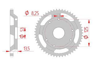 Kit chaine Acier DERBI SENDA 50 SM CLASSIC 97-98 Standard