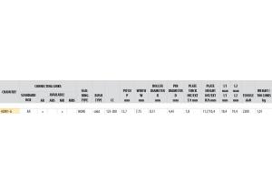 Kit chaine Acier DERBI 125 GPR 2004-2008 Renforcé