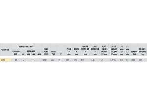 Kit chaine Acier DERBI 125 TRAIL 4T 2004 Standard