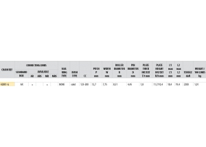 Kit chaine Acier DERBI 125 CROSS CITY 2007-2008