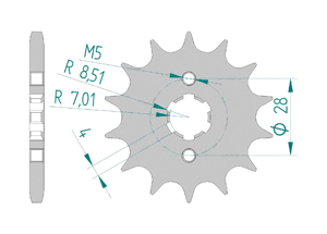 Kit chaine Acier DERBI SENDA 125 DRD SM 2009-2012 Renforcé Xs-ring