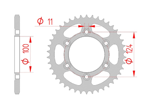 Kit chaine Acier DUCATI 696 MONSTER 2008-2013 Hyper Renforcé Xs-ring