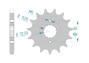 Kit chaine Acier DUCATI 750 INDIANA 1987-1990 Renforcé Xs-ring