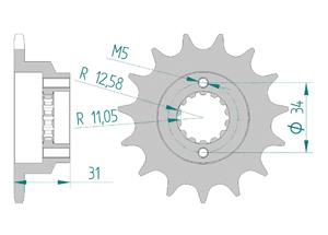 Kit chaine Acier DUCATI 750 SANTA MONICA 87-88 Hyper Renforcé Xs-ring