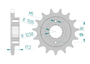 Kit chaine Acier DUCATI 796 MONSTER 2010-2013 Hyper Renforcé Xs-ring
