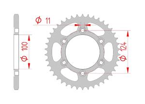 Kit chaine Acier DUCATI 800 SPORT 2003-2004 Super Renforcé Xs-ring