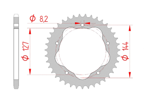 Kit chaine Acier DUC 848 EVO 07-13 FOR PCD2 #520